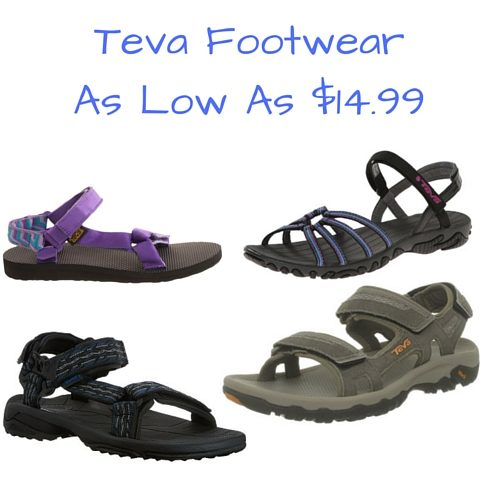 Teva Footwear As Low As $14.99