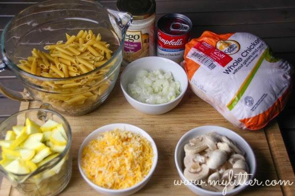 cheesy chicken mushroom skillet casserole