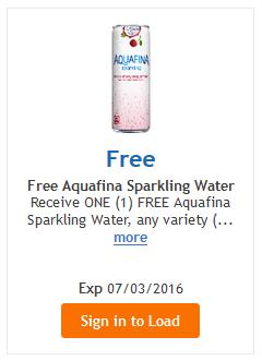 free aquafina water