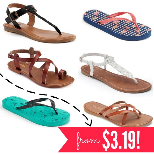1c8298b0aa14 Right now at Kohls.com – lots of summer sandals are on sale nearly 50% OFF.  PLUS – when you use code SPLASH20 – you ll save an extra 20% OFF!