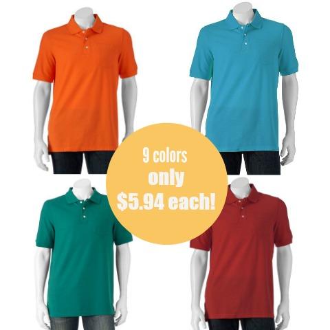 5ece1c7a8 Kohl's: Men's Croft & Barrow Easy-Care Pique Polo Shirts only $5.94 ...