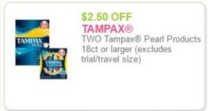 tampax coupon