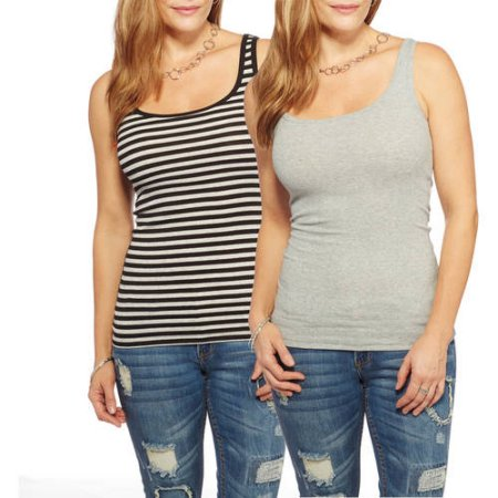127e83b3dc01d3 2 Pack Value Bundle Faded Glory Women s Tank Tops - MyLitter - One ...