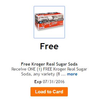 Kroger FREEBIE Friday – Load Your Card For FREE Real Sugar Soda