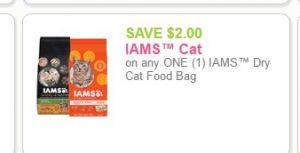 iams cat food printable