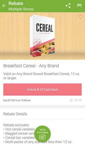 ibotta cereal