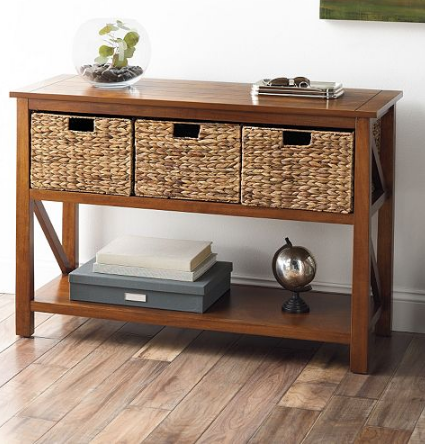 Kohls SONOMA Console Table with Baskets ONLY 99 Shipped