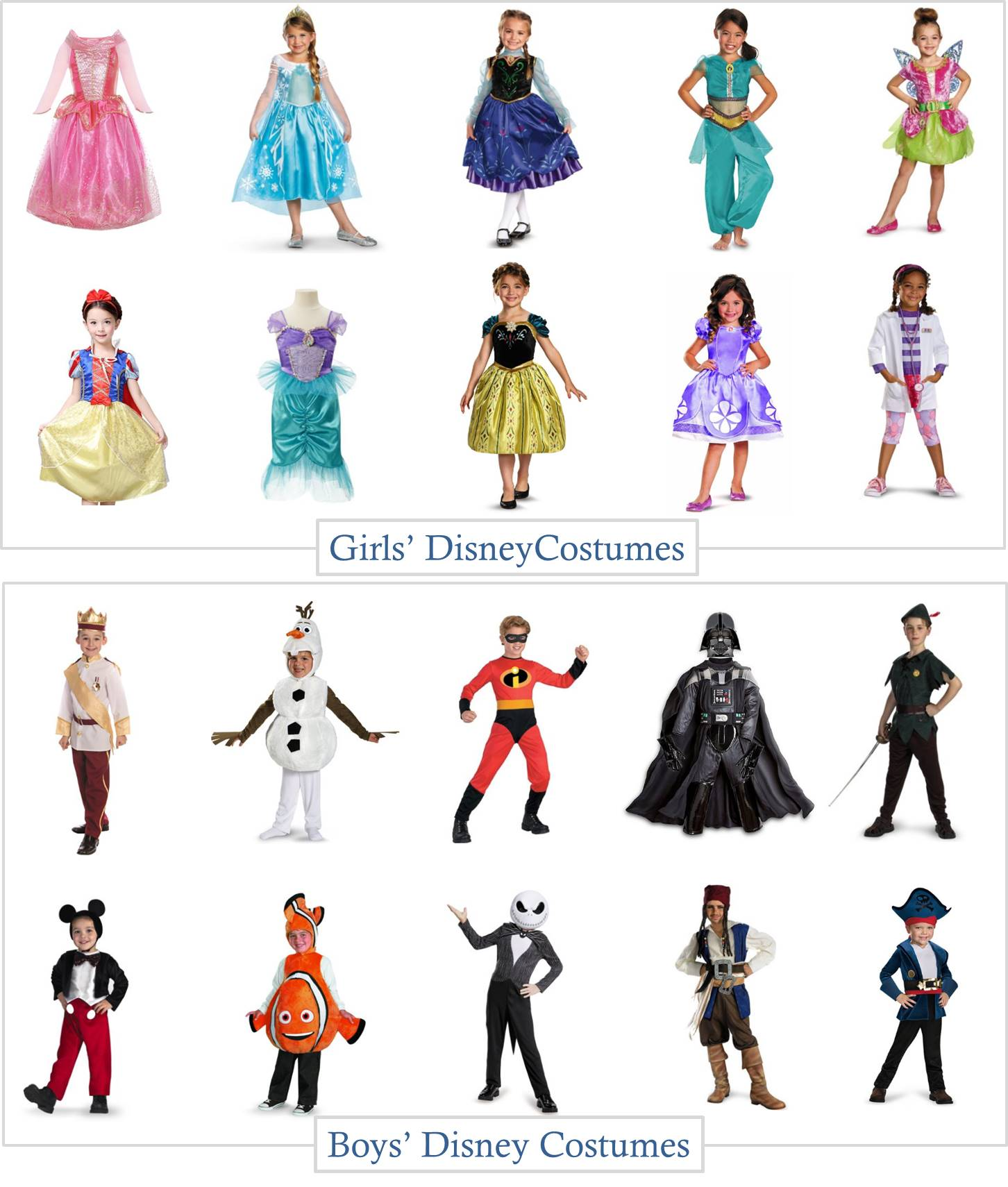 8.28 Round Up - Boys and Girls Disney Costumes NO HEADER  sc 1 st  MyLitter & Boys and Girls Disney Character Halloween Costume Roundup - MyLitter ...
