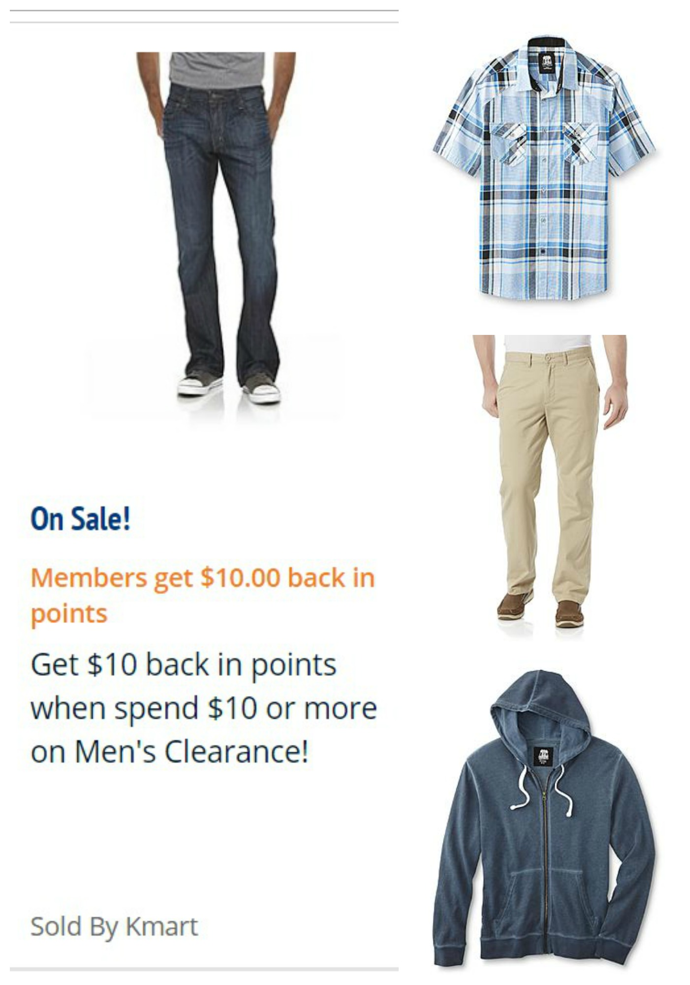 04e02b0cd500 Kmart: Spend $10 on Men's Clearance & get $10 back in Shop Your Way Points!
