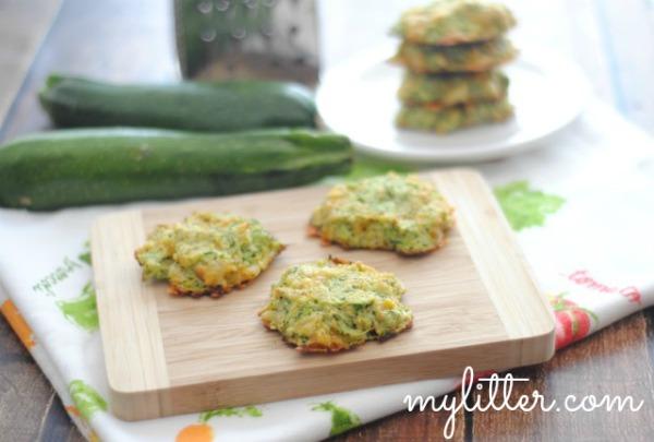 Zucchini Patties on plate