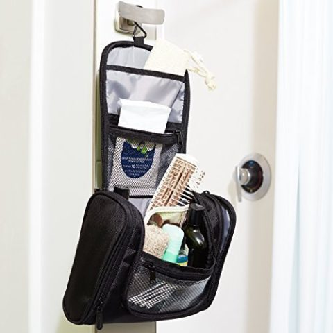 Amazon  AmazonBasics Hanging Toiletry Kit  12.22 (Perfect for Travel ... 8e92a4cc42346