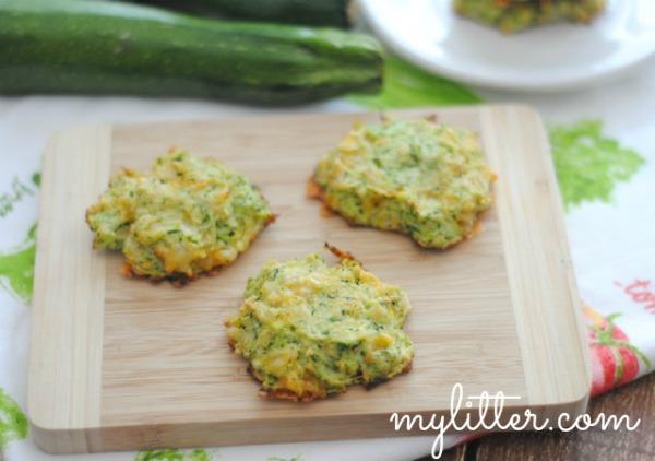 baked zucchini patties