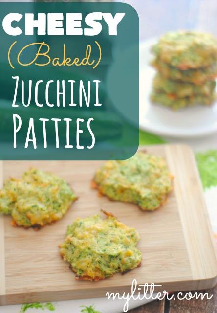 cheesy baked Zucchini Patties