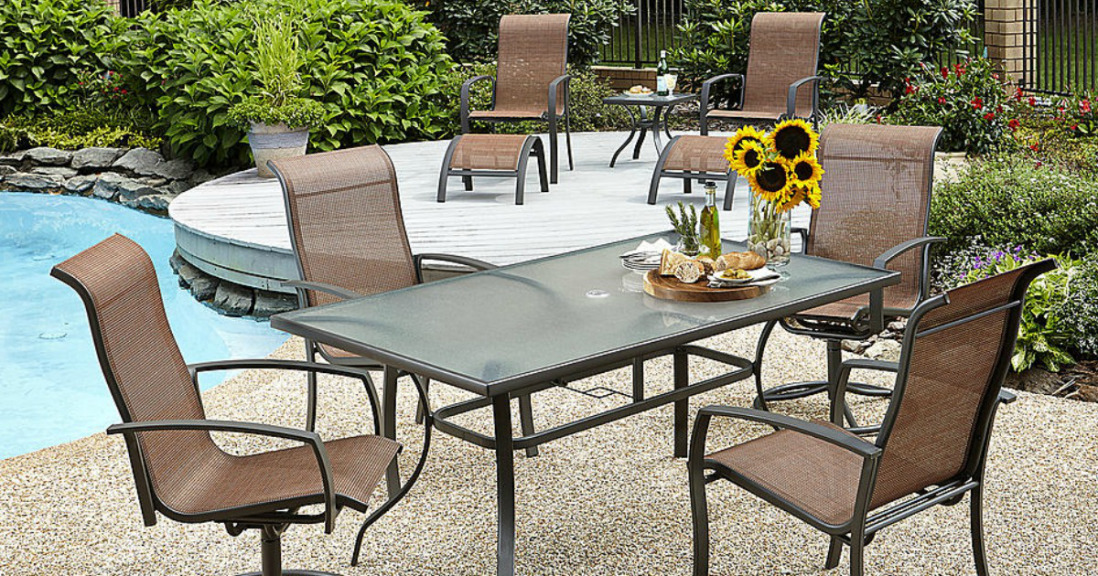 Kmart Dining Set Kmart Patio Clearance 70% OFF (10-PC Patio Set only $180 ...