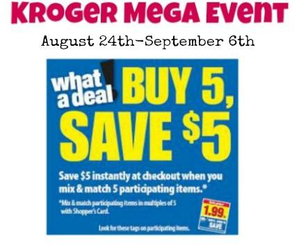 Kroger Mega Event Full Item List + Matchups