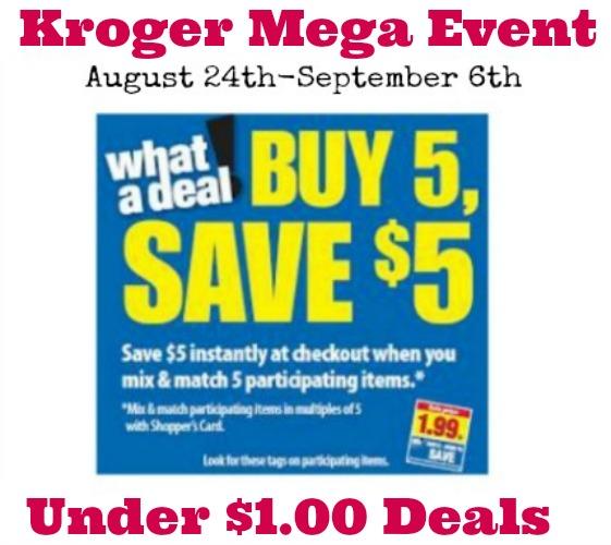 Kroger Mega Event Under $1.00 Deals