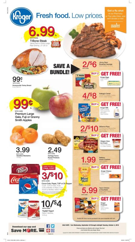Kroger Ad Sneak Peek for 9/28-10/4 - MyLitter - One Deal At