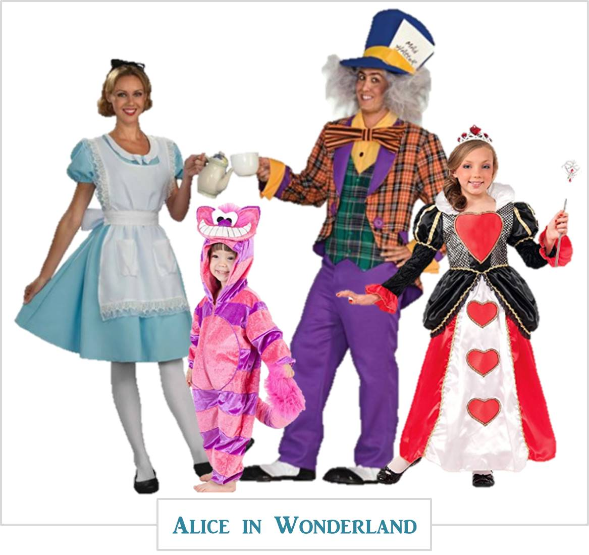 Alice In Wonderland Halloween Costume Family.Halloween Costumes For The Family Mylitter One Deal At A Time