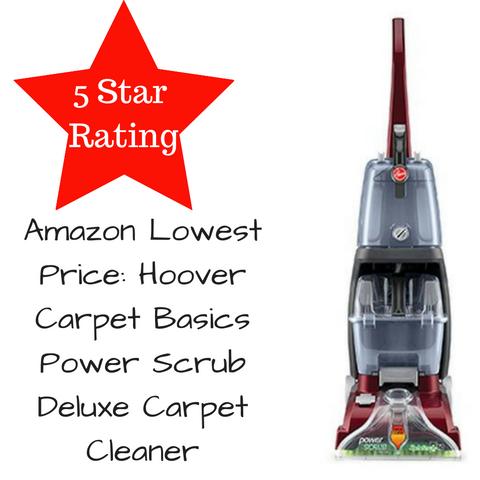Amazon Lowest Price: Hoover Carpet Basics Power Scrub Deluxe Carpet Cleaner