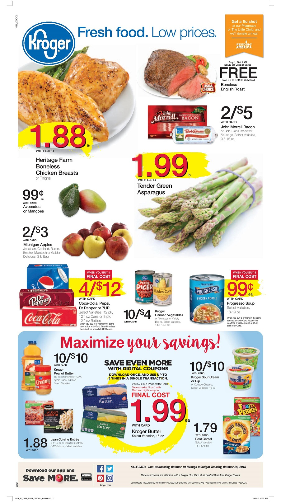 Kroger Ad Scan Preview for 10/19