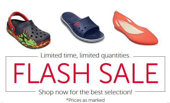 e1d3b3af10f59c End of summer sales are the bom dot com! Sadly today is the last day you  can take advantage of the Croc Coupon Code FLASH to get 50% off sale prices!