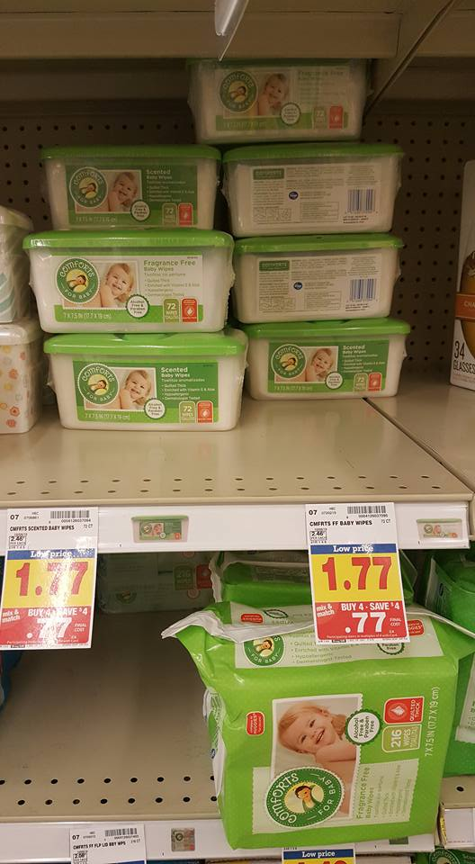 Kroger Mega Event: Comforts Baby Wipes only $0.77