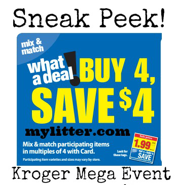 Kroger Mega Event Unadvertised Full List Starts 10/12
