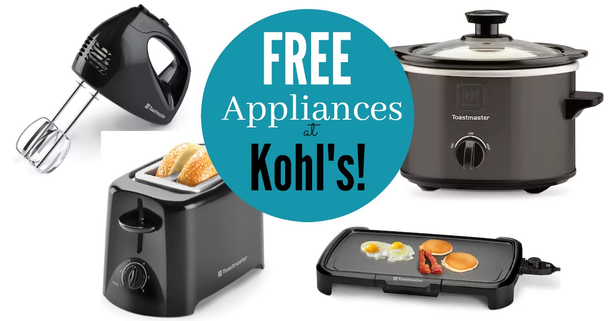 Kohl S Get 4 Kitchen Appliances Free