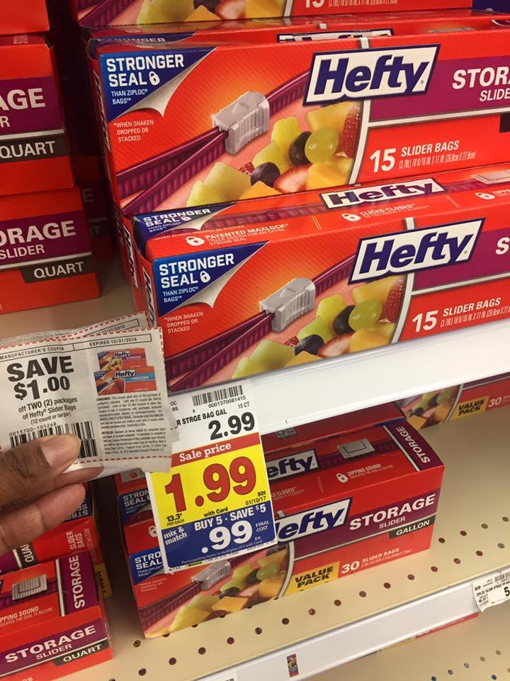Kroger Mega Event: Hefty Slider Bags only $0.49