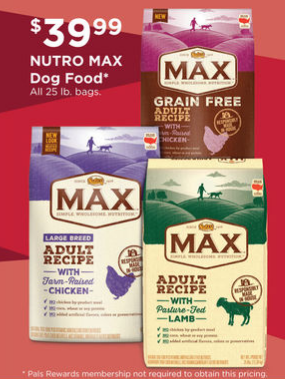 Nutro Max Dog Food Coupons