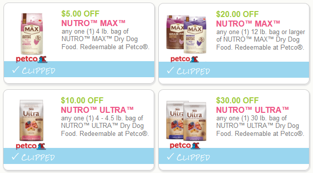 Coupons Nutro Max Cat Food