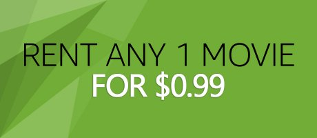 ANY Digital Movie Rental Only 99 CENTS