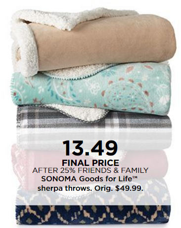 Kohls Throw Blankets Simple Kohl's SONOMA Sherpa Throws Only 6060 Reg 60 MyLitter