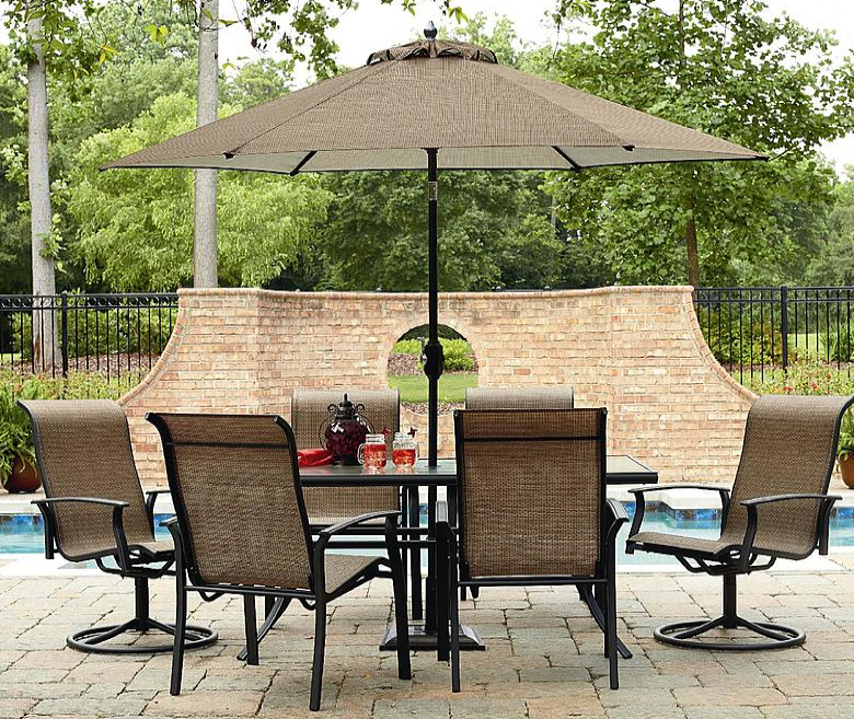 Sears garden oasis 7 pc outdoor dining set reg mylitter one deal at a time Garden oasis harrison 7 piece dining set