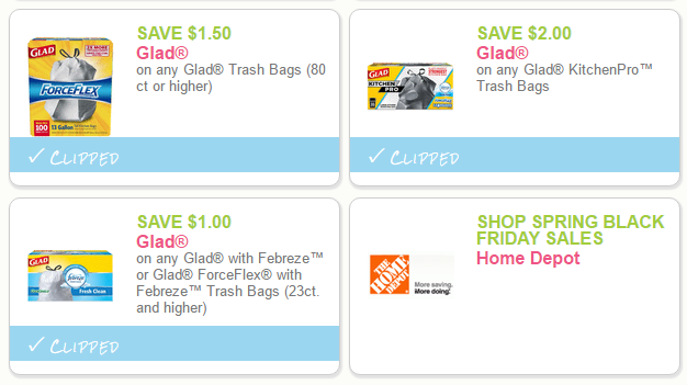 photograph about Glad Trash Bags Printable Coupon named Conserve $4.50 upon Contented Trash Luggage (Clean Printable Discount codes