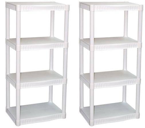 Plano 4Tier HeavyDuty White Plastic Shelves only 1275
