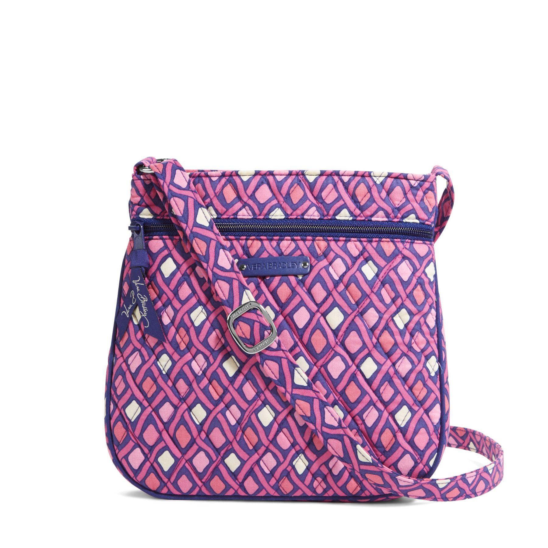 Vera Bradley Petite Double Zip Hipster Crossbody Bag $16