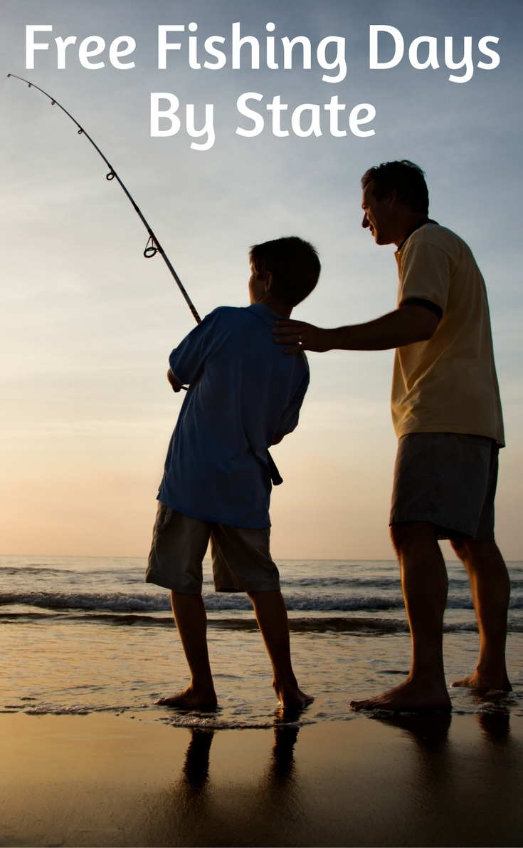 Free fishing days by state for 2017 mylitter one for Free fishing day