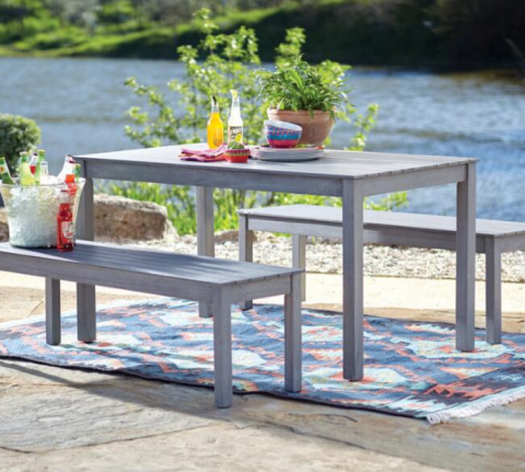 Great And this Grey San Pedro Piece Outdoor Dining Set just Shipped