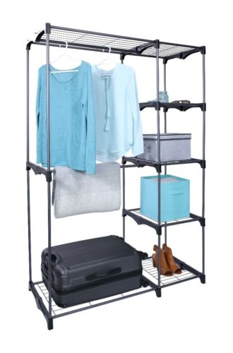half off and free shipping portable bedroom wardrobe storage rack kit