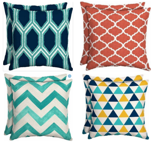Walmart outdoor cushions pillows only 5 mylitter one for Patio cushion covers walmart