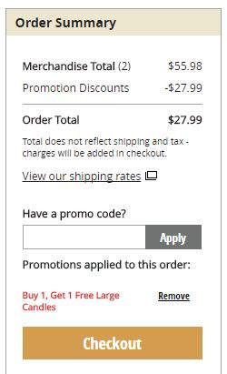 Buy 1 Get 1 Free Large Yankee Candles (Save $27 99)