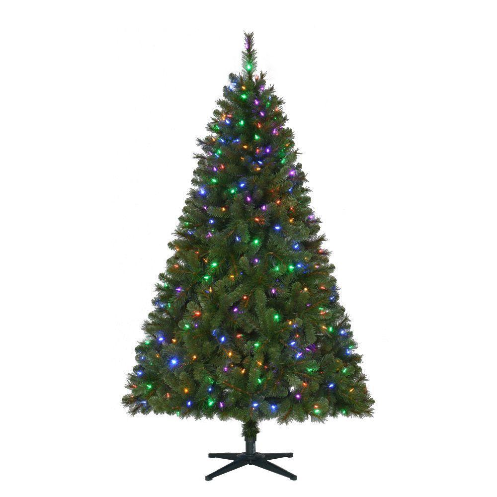 6 5 Wesley Artificial Pre Lit Led Christmas Tree W Color