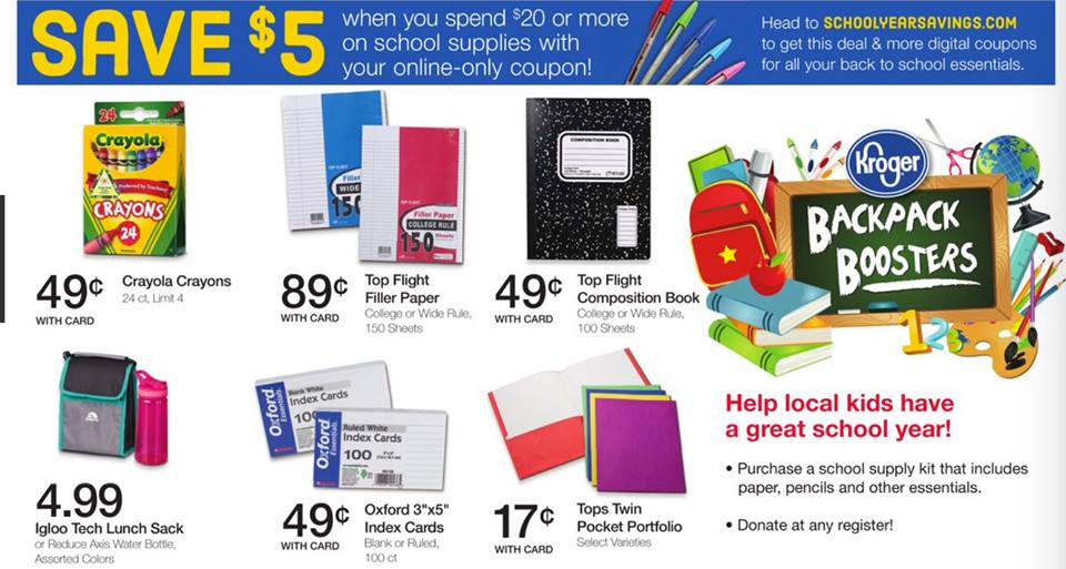graphic regarding Crayola Printable Coupons identify $5/$20 College Products Coupon + Kroger Offers - MyLitter