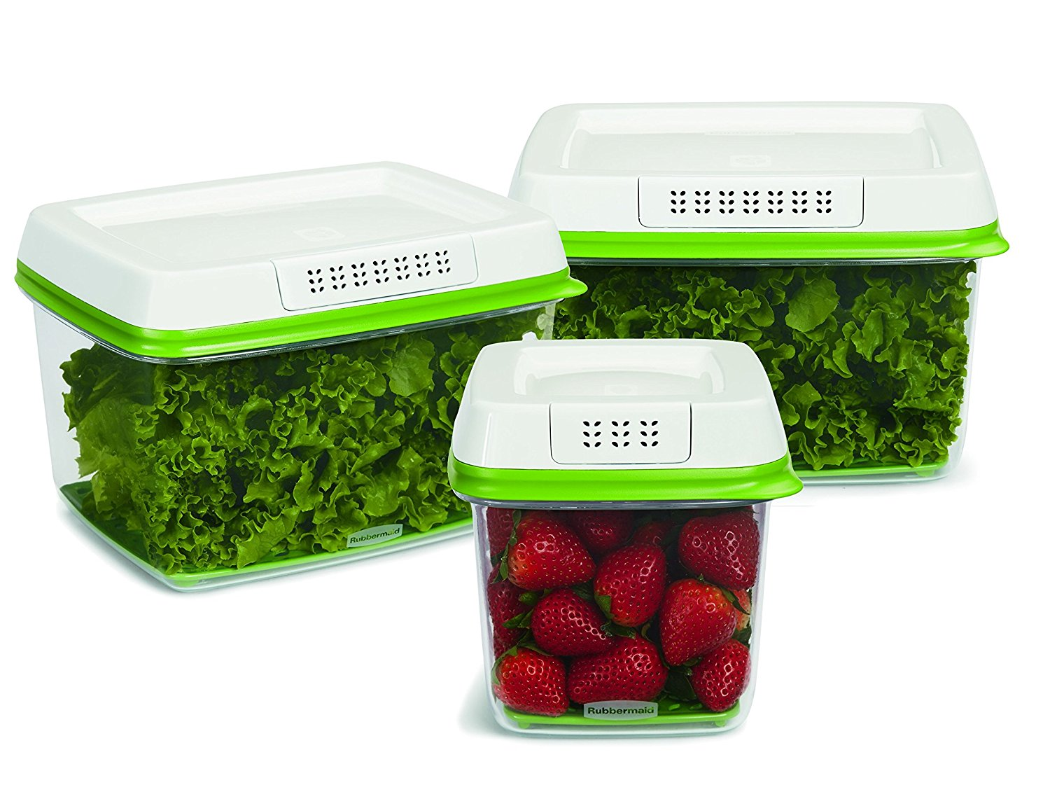 Amazon Lowest Price Set of 3 Rubbermaid FreshWorks Produce Saver