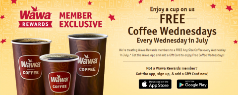 image relating to Wawa Coupons Printable known as Absolutely free Wawa Espresso Inside of July For Positive aspects Contributors - MyLitter