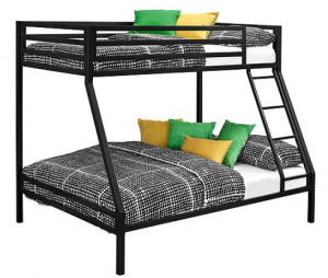 Ideal The Mainstays Twin Over Twin Premium Metal Bunkbed was the cheapeast we could find at just