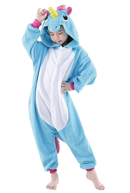 e09aa3624454 How Adorable for Halloween! Childrens Blue Unicorn Costume Onesie ...
