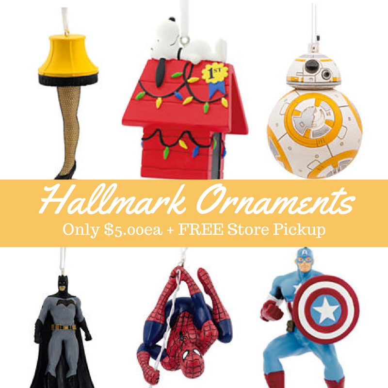 Special Hallmark Christmas Ornaments Only 5 99 Free Store Pickup
