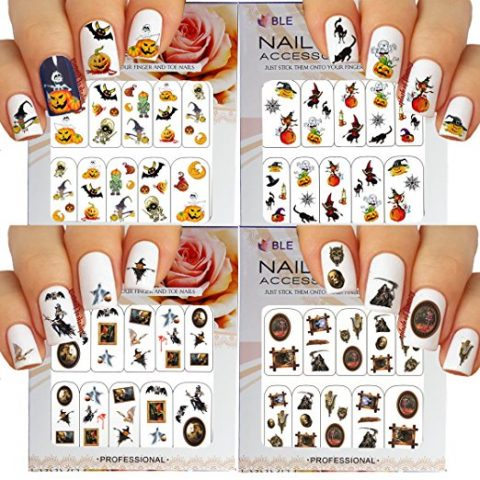 Get Into The Spooky Spirit Halloween Nail Art Pack Of 4 Mylitter